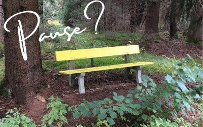 Die gelbe Bank – Reminder für gute Gewohnheiten